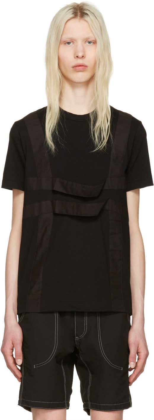Image of Comme Des Garçons Shirt Black Harness T-shirt