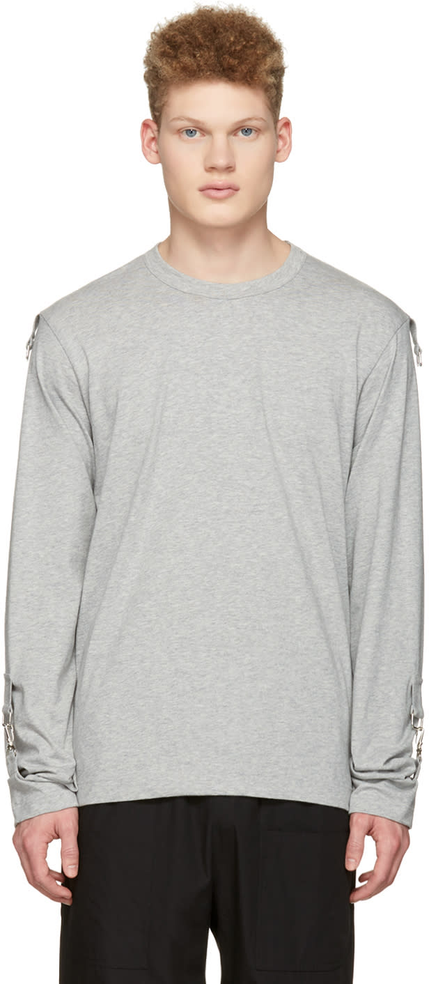 Comme Des Garcons Shirt Grey Adjustable Sleeves T-shirt