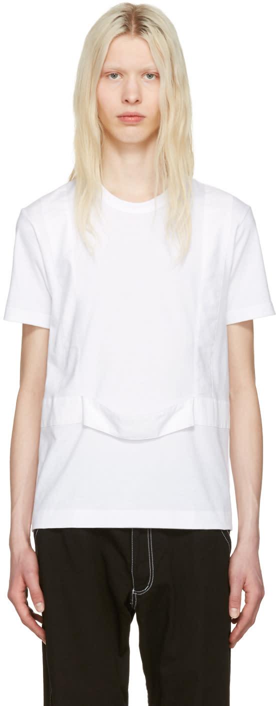 Comme Des Garcons Shirt White Single Harness T-shirt