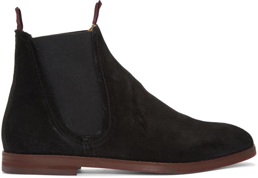 H By Hudson Black Suede Tamper Boots