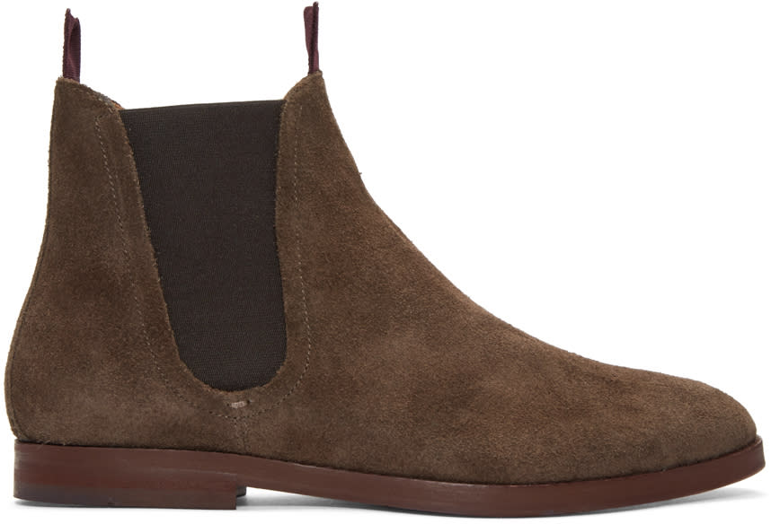 H By Hudson Brown Suede Tamper Boots
