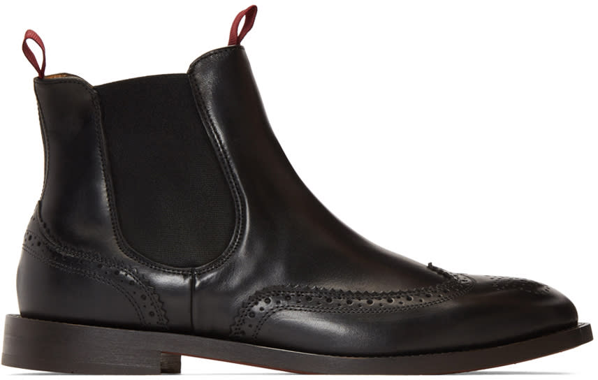 H By Hudson Black Breslin Chelsea Boots