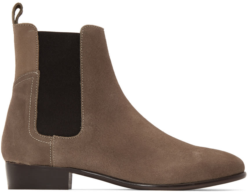 H By Hudson Taupe Watts Chelsea Boots