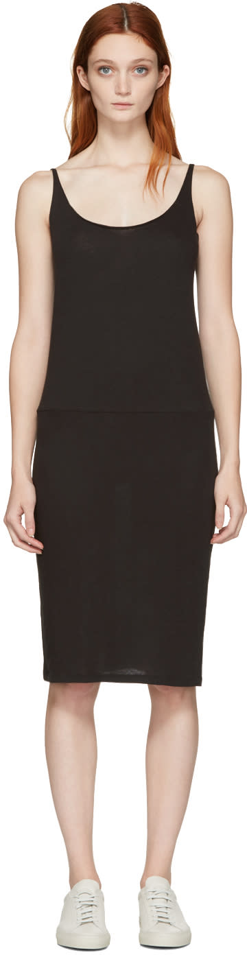 Raquel Allegra Black Jersey Tank Dress