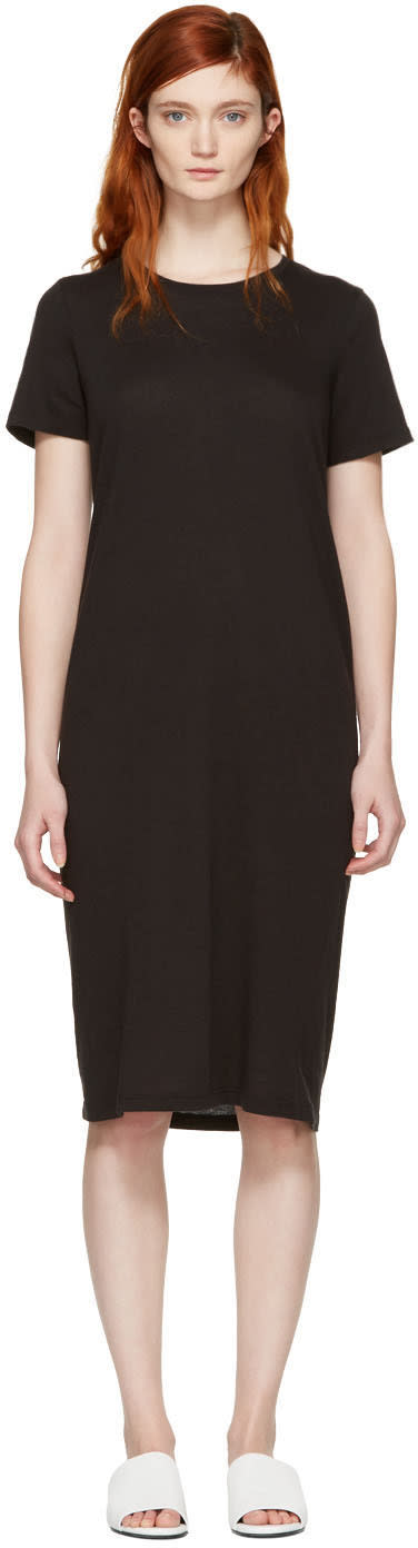 Raquel Allegra Black T-shirt Dress