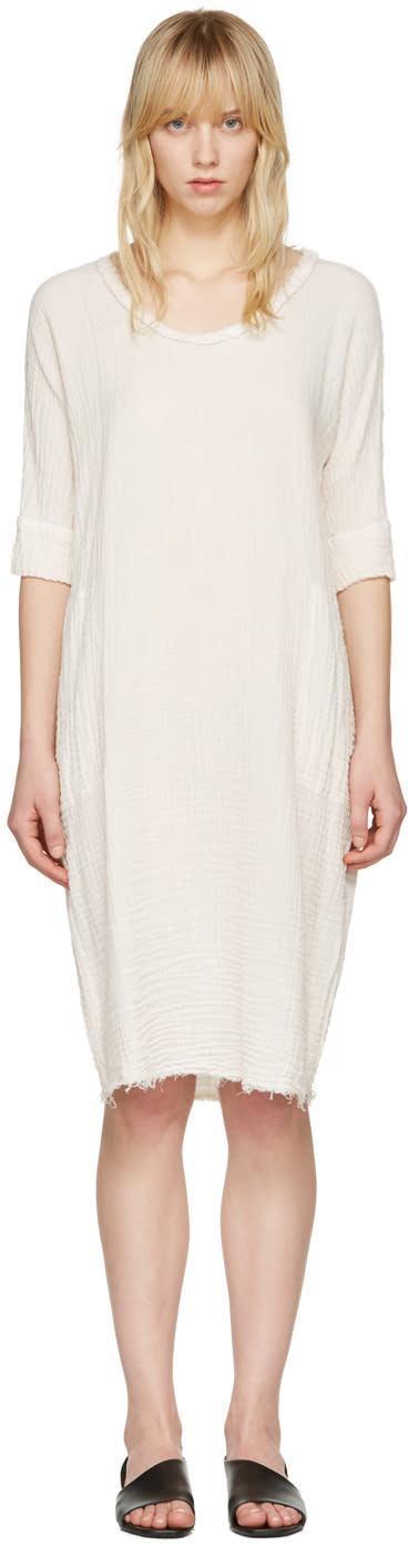 Raquel Allegra Off-white Gauze T-shirt Dress