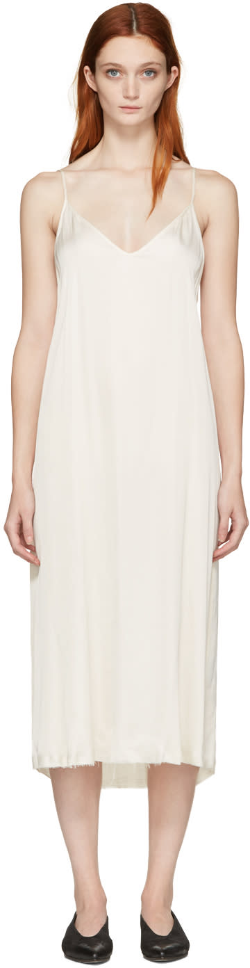 Raquel Allegra Ivory Liquid Satin Slip Dress