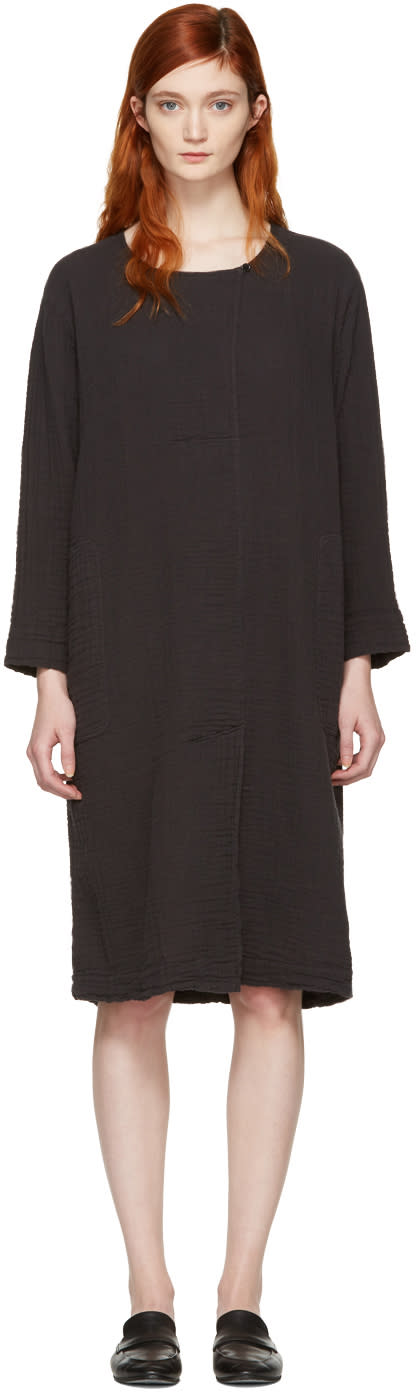 Raquel Allegra Black Boxy Day Dress