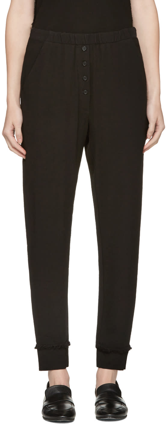 Raquel Allegra Black Crepe Trousers