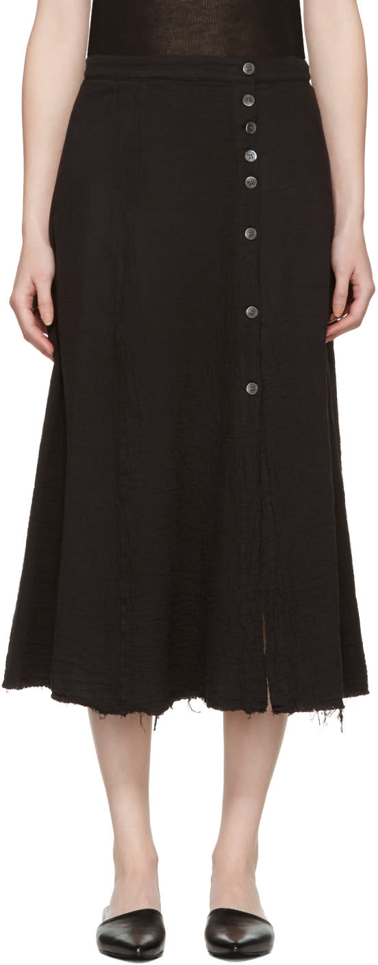 Raquel Allegra Black Safari Skirt