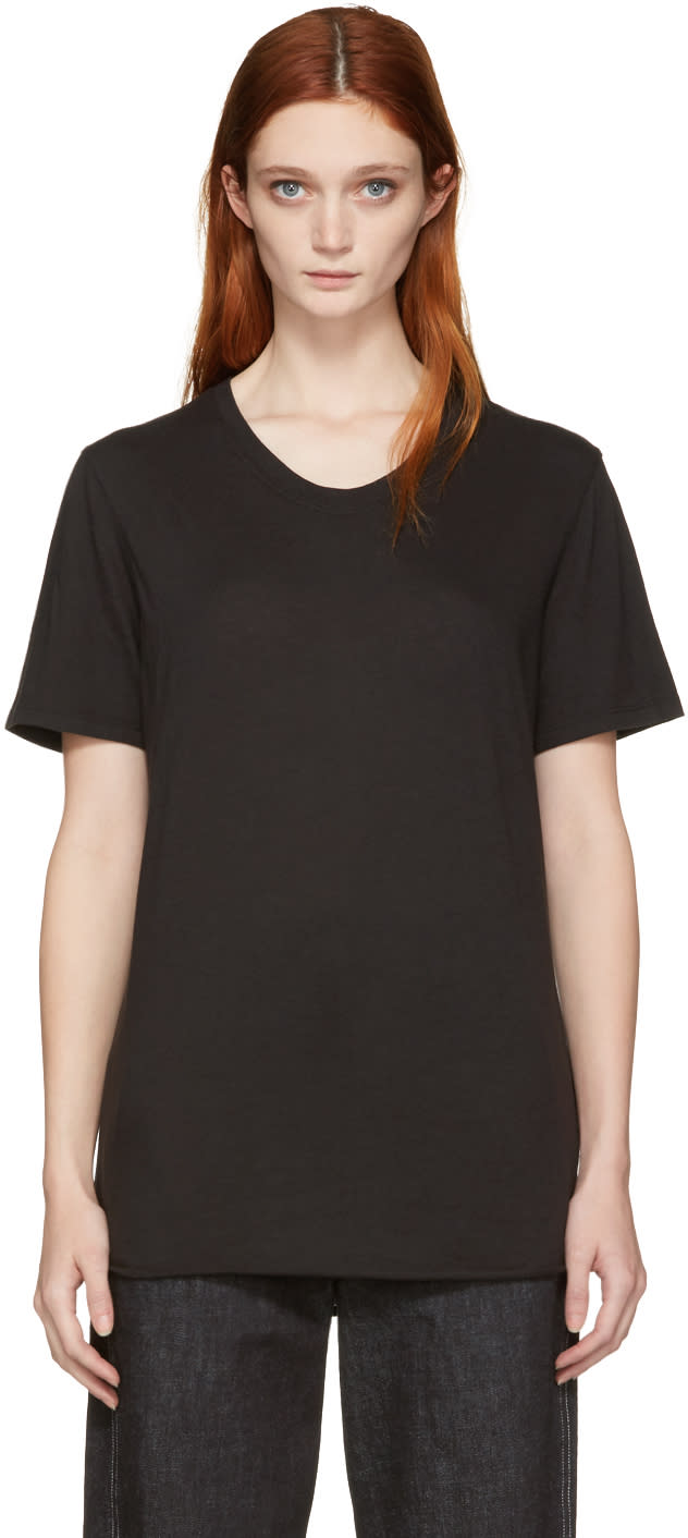 Raquel Allegra Black Jersey Basic T-shirt