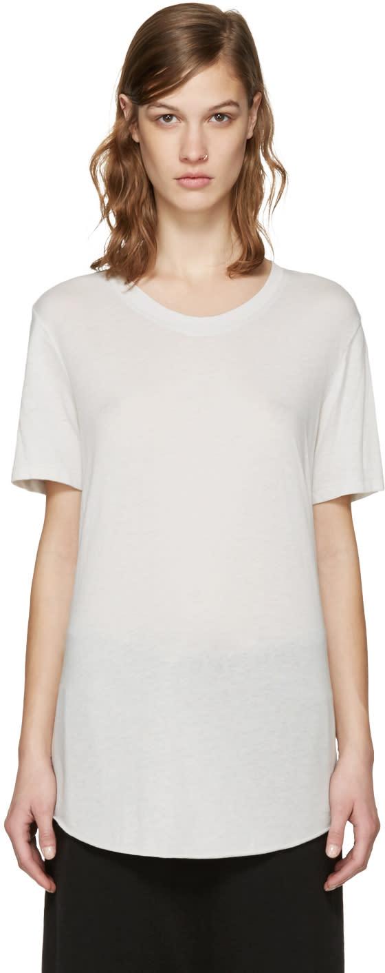 Raquel Allegra Grey Jersey T-shirt