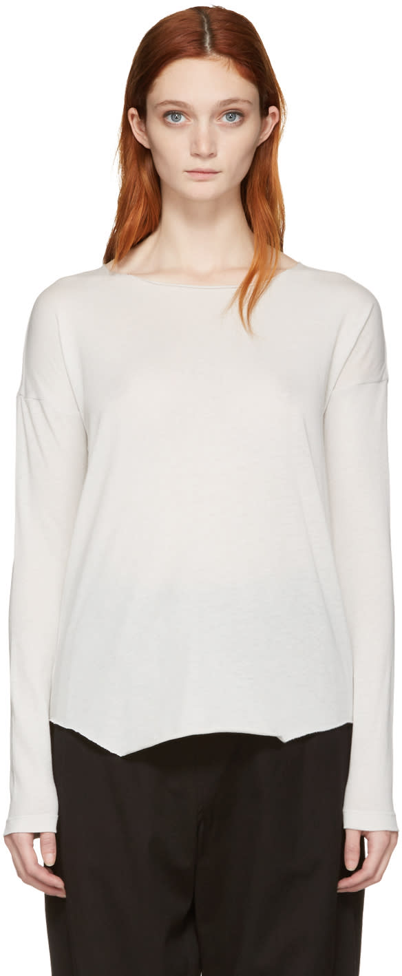 Raquel Allegra White Jersey Basic T-shirt