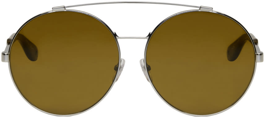 Givenchy Silver Large Round Sunglasses