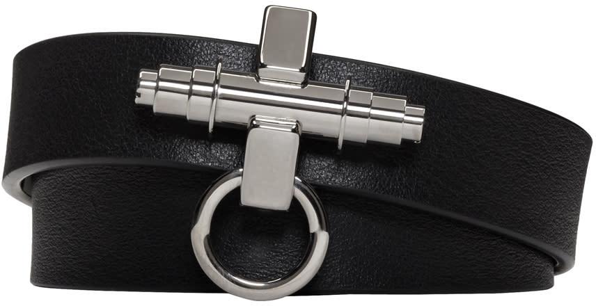 Givenchy Black Three Row Obsedia Bracelet