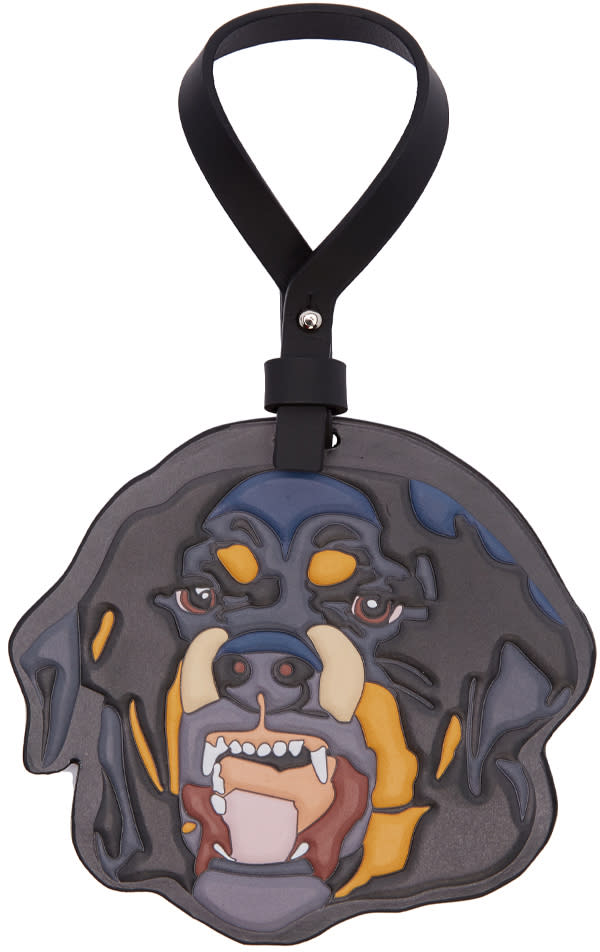 Givenchy Multicolor Leather Rottweiller Bag Charm