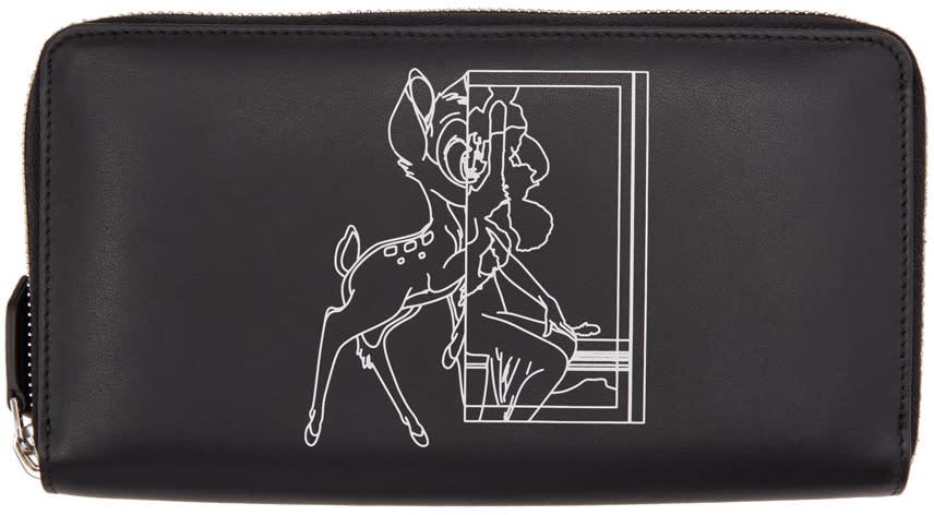 Givenchy Black Bambi Continental Wallet