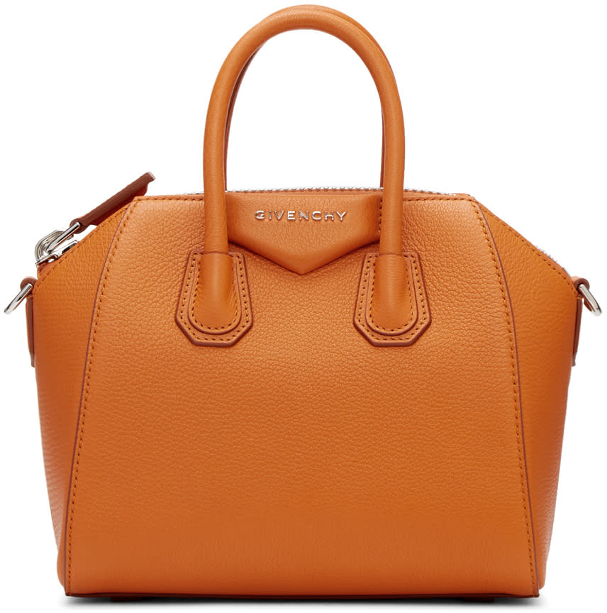 Givenchy Orange Mini Antigona Bag