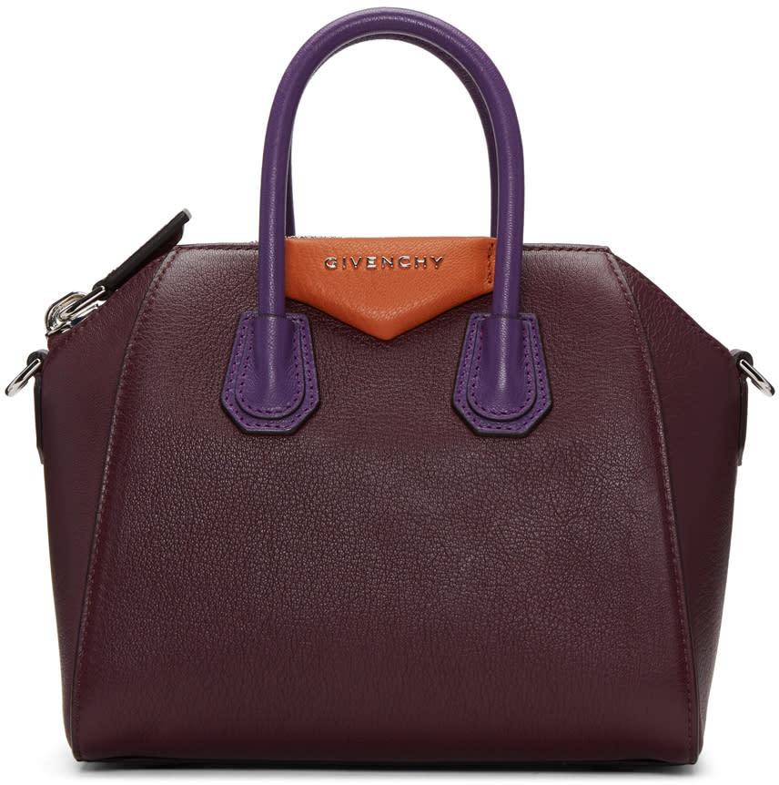 Givenchy Burgundy Mini Antigona Bag