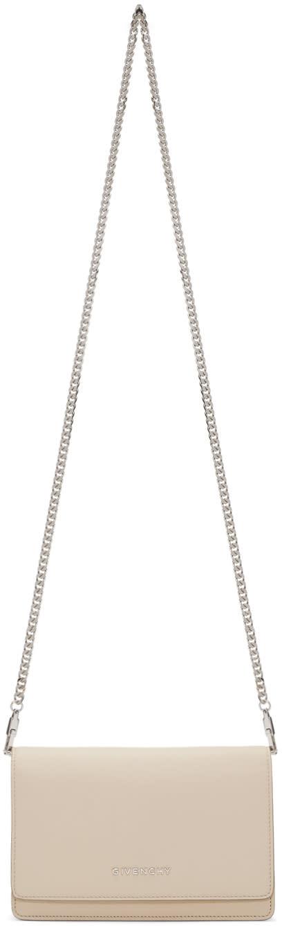 Givenchy Beige Pandora Wallet Chain Bag