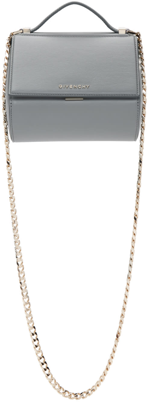 Givenchy Grey Mini Chain Pandora Box Bag