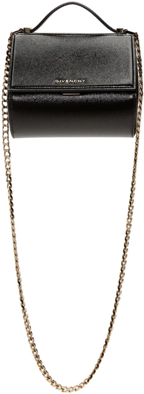 Givenchy Black Mini Chain Pandora Box Bag