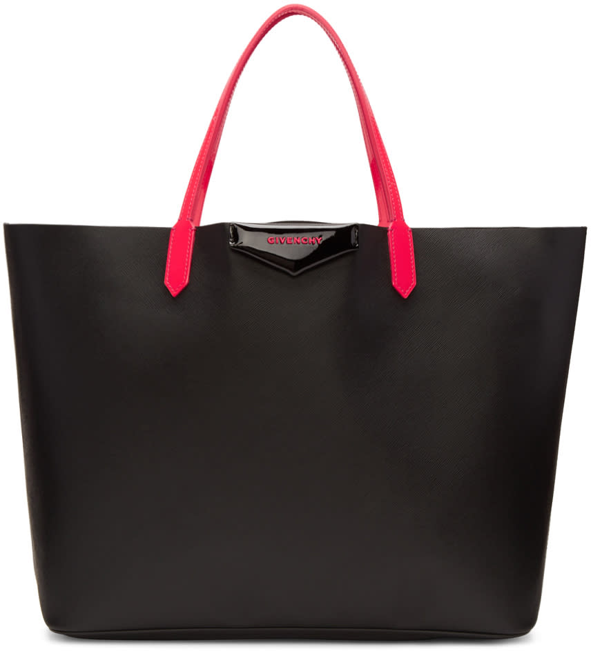 Givenchy Black and Pink Large Tote Bag