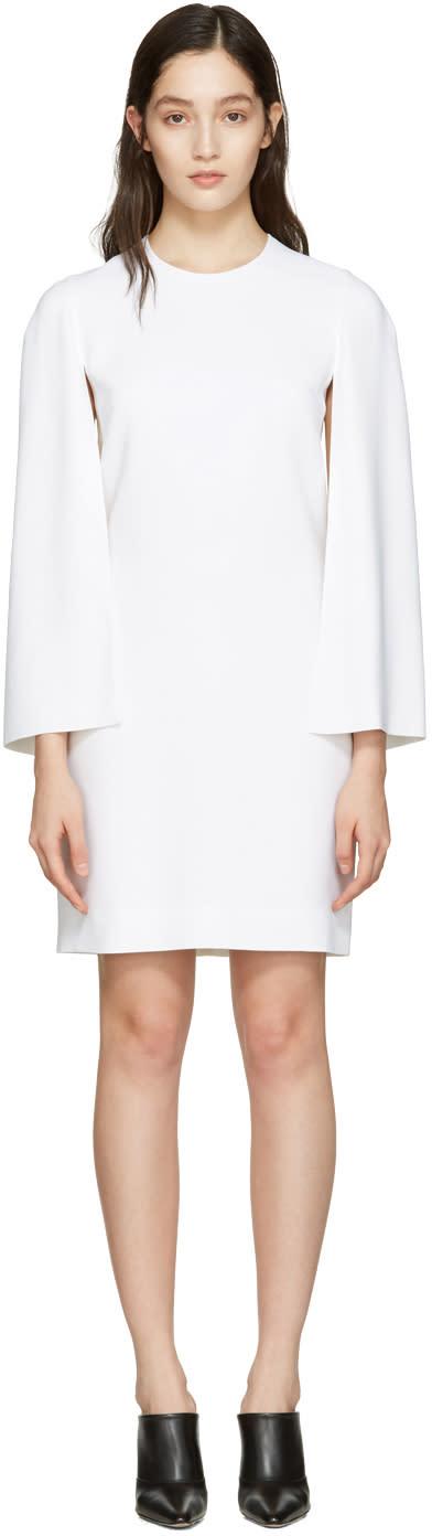 Givenchy White Cape Sleeve Dress