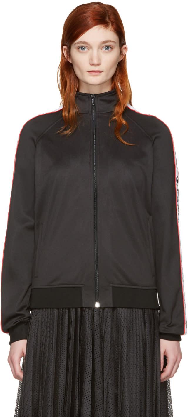 Givenchy Black Logo Bomber Jacket