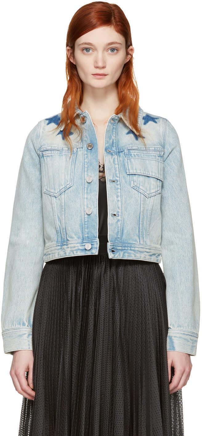 Givenchy Blue Denim Stars Jacket
