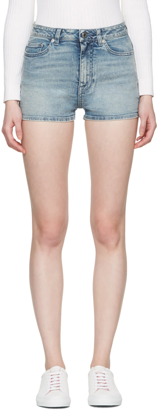 Givenchy Blue Denim Shorts