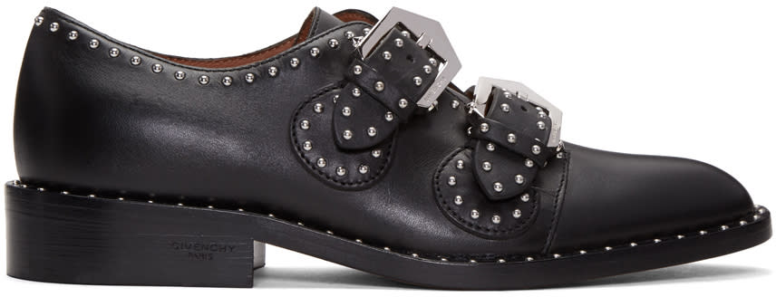 Givenchy Black Studded Monk Strap Shoes