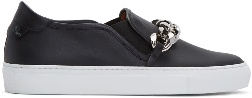 Givenchy Black Chain Skate Slip-on Sneakers