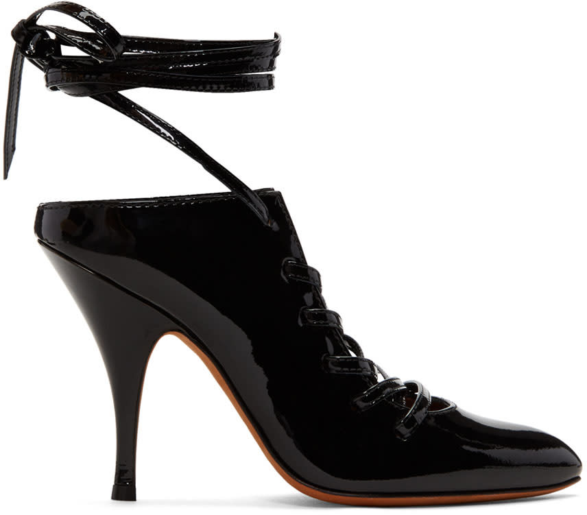 Givenchy Black Lace-up Heels