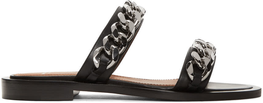Givenchy Black Two Chains Sandals