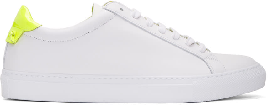 Givenchy White and Yellow Urban Knots Sneakers