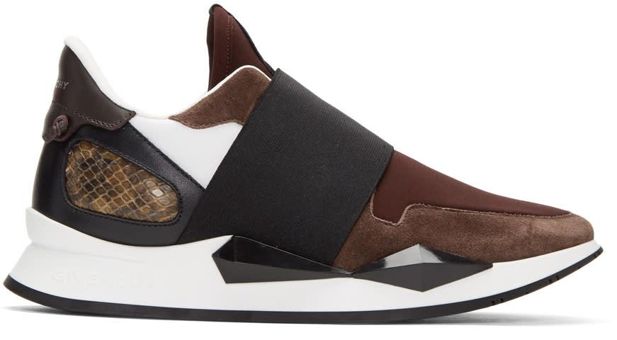 Givenchy Burgundy Runner Slip-on Sneakers