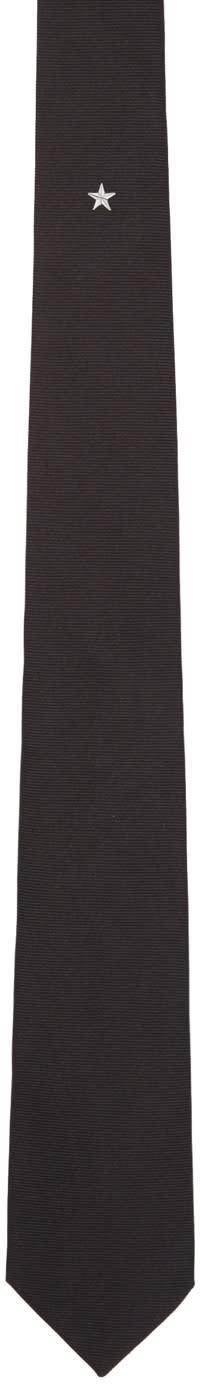 Givenchy Black Single Star Tie