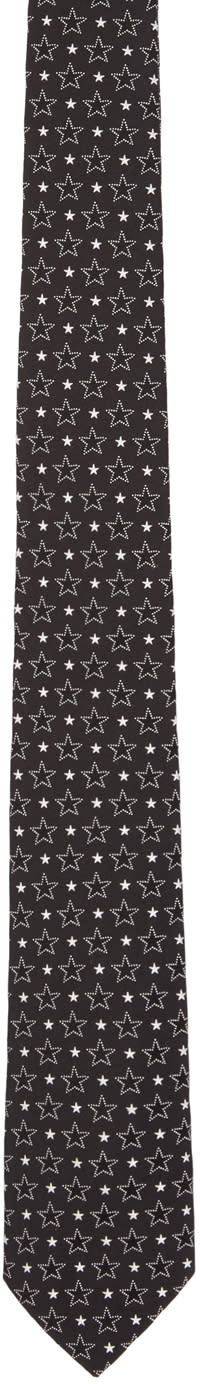 Givenchy Black Big and Small Stars Tie