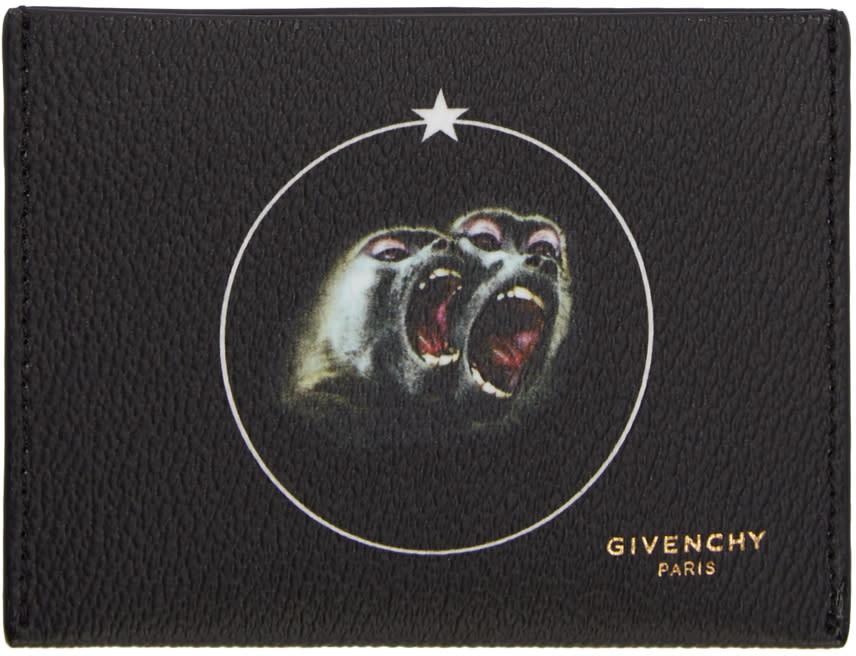 Givenchy Black Monkey Brothers Card Holder