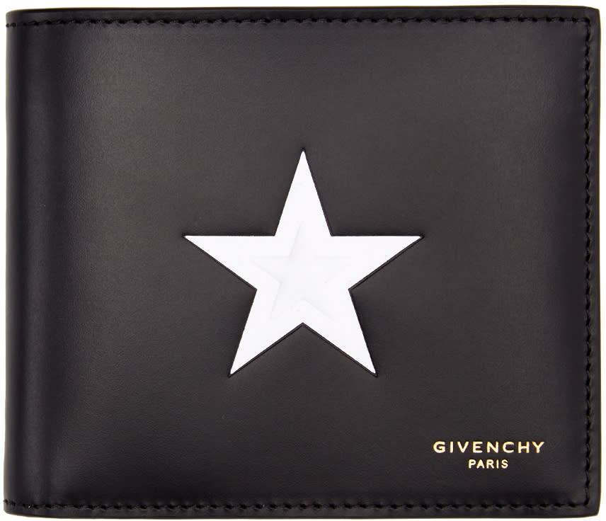 Givenchy Black and White Star Wallet