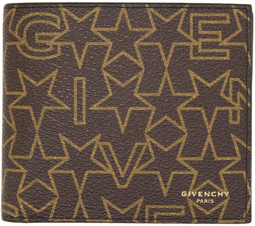 Givenchy Brown Logo Stars Wallet