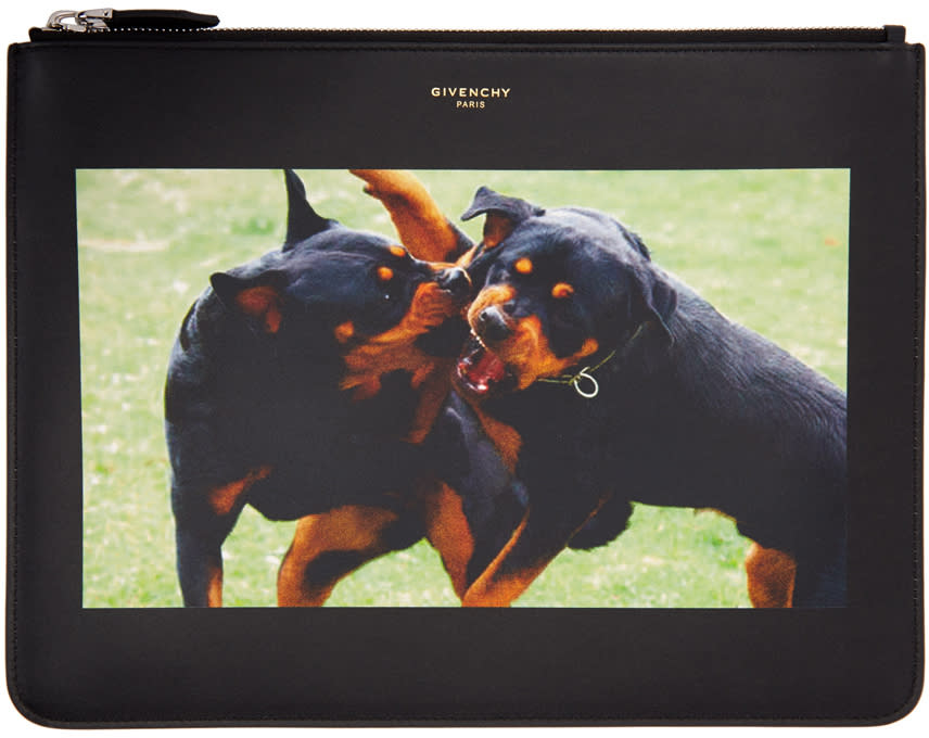 Givenchy Black Rottweiler Pouch