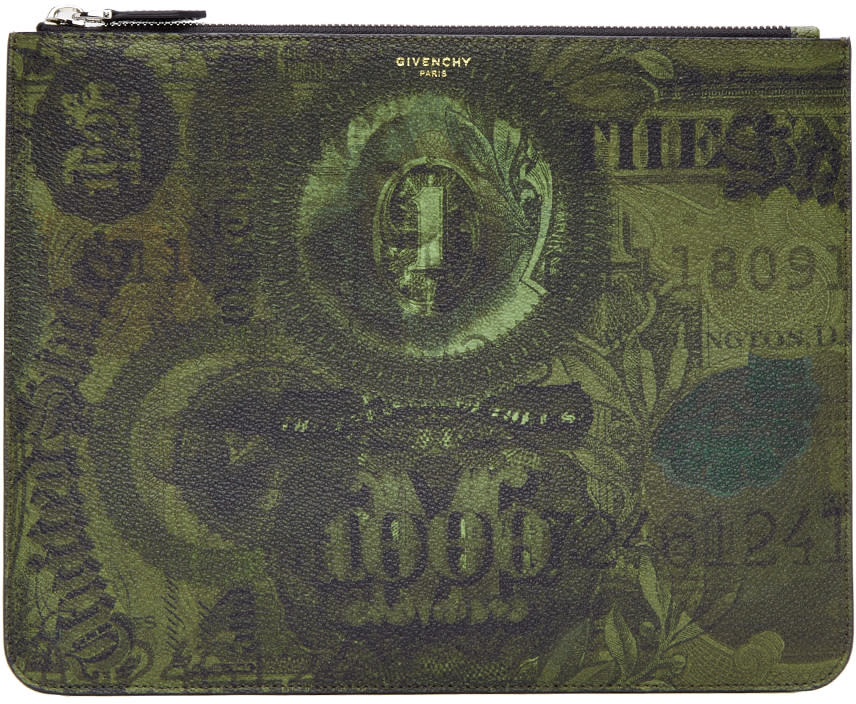Givenchy Green Money Pouch