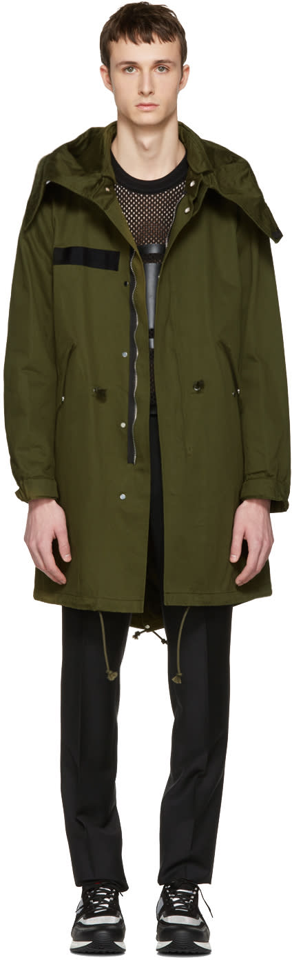 Givenchy Green Printed Wings Parka