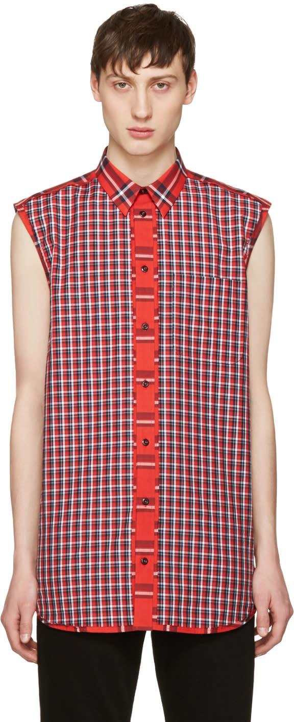 Givenchy Red Check Shirt