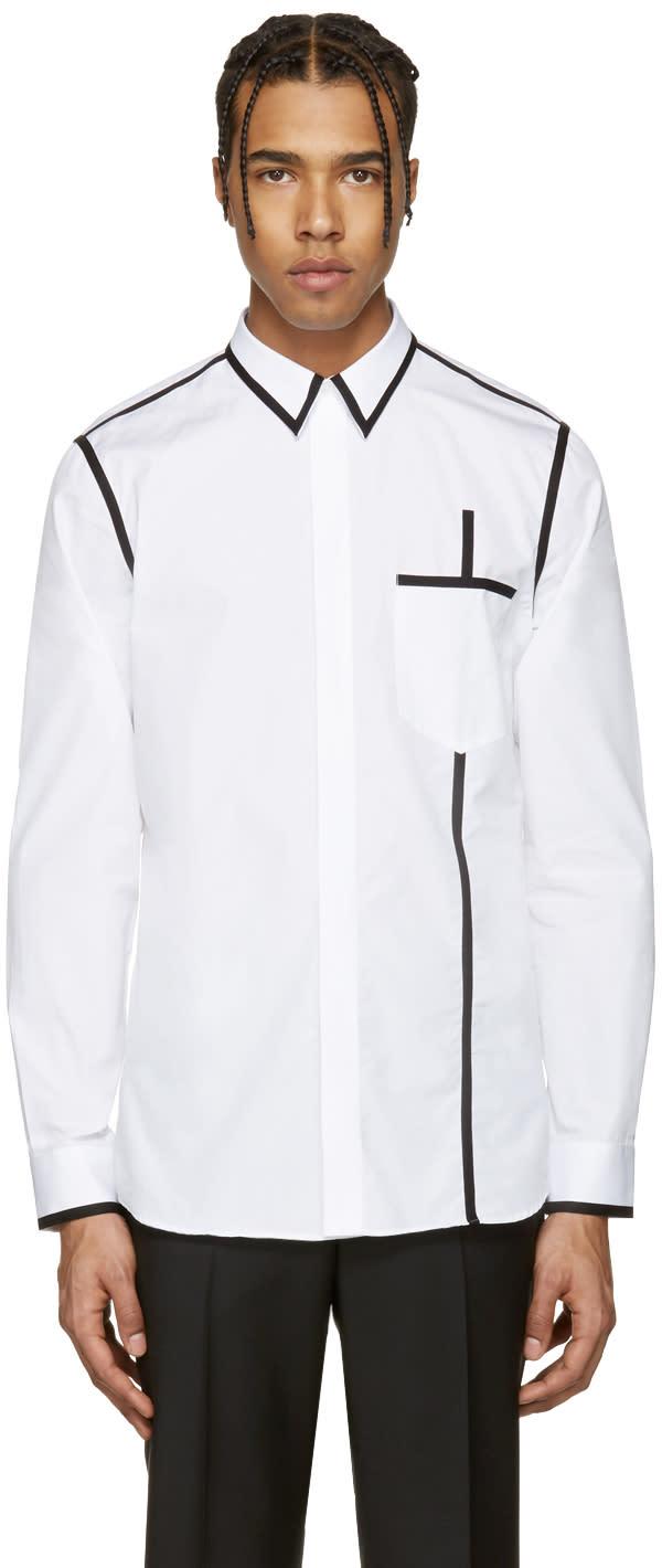 Givenchy White and Black Piping Shirt