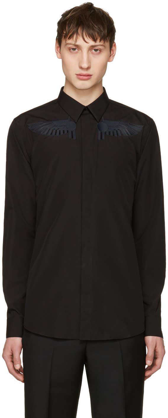 Givenchy Black Wing Shirt