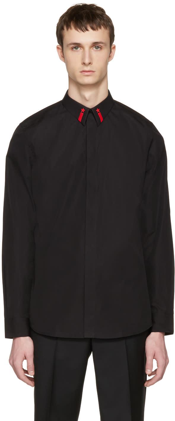 Givenchy Black Star Collar Shirt