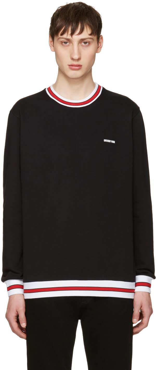 Givenchy Black Contrast Collar Sweatshirt